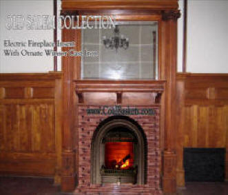 Electric coals in Victorian WindsorFront fireplace